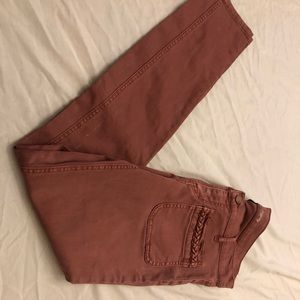 New York & co rust color leggings cute pockets 8